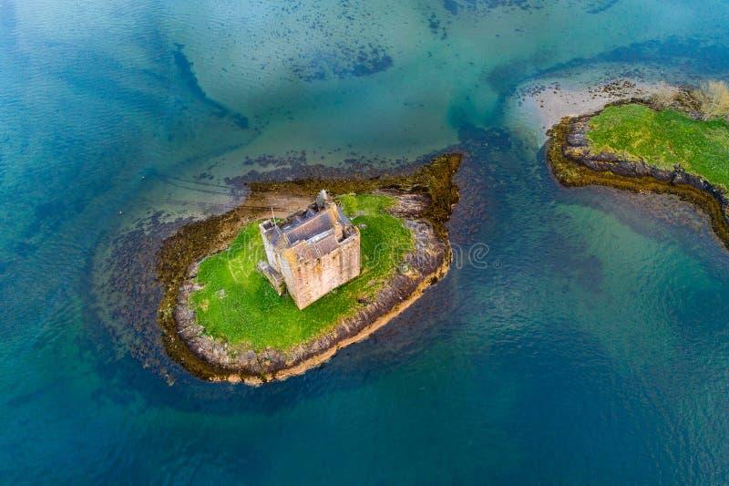 Castle Stalker. Near Portnacroish in Scotland stock image