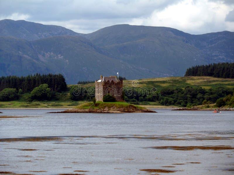 Castle Stalker Scotland royalty free stock image