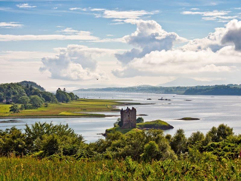 Castle stalker. View of Castle Stalker, Highlands, Scotland, UK royalty free stock image