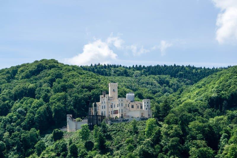 Castle Stolzenfels im Rheintal am Rhein in Deutschland bei blauen Himmel stock photo