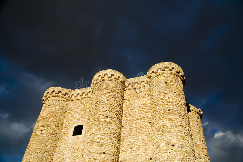 Castle with Storm Clouds stock photography