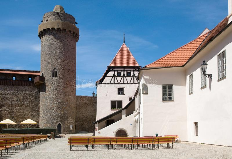 Castle Strakonice, Czech Republic. Castle Strakonice in the Southern Bohemia,Czech Republic stock image