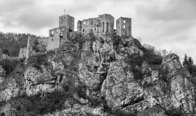 Castle STRECNO, Slovakia stock photo