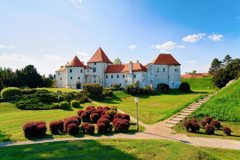 Castle on Street of Old city of Varazdin in Croatia. View of Castle on Street of Old city of Varazdin in Croatia. Panorama and Cityscape of famous Croatian town royalty free stock images