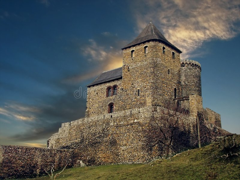 Castle Sunset royalty free stock images