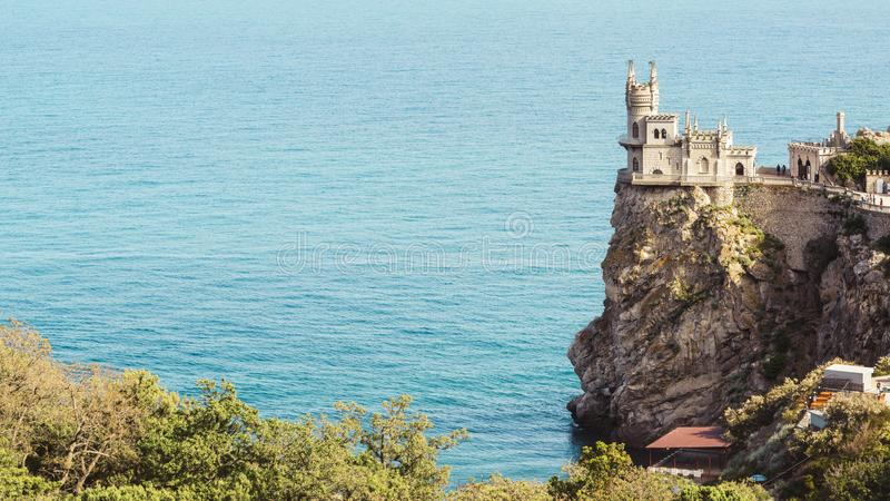 Castle of Swallow`s Nest in Crimea royalty free stock photos