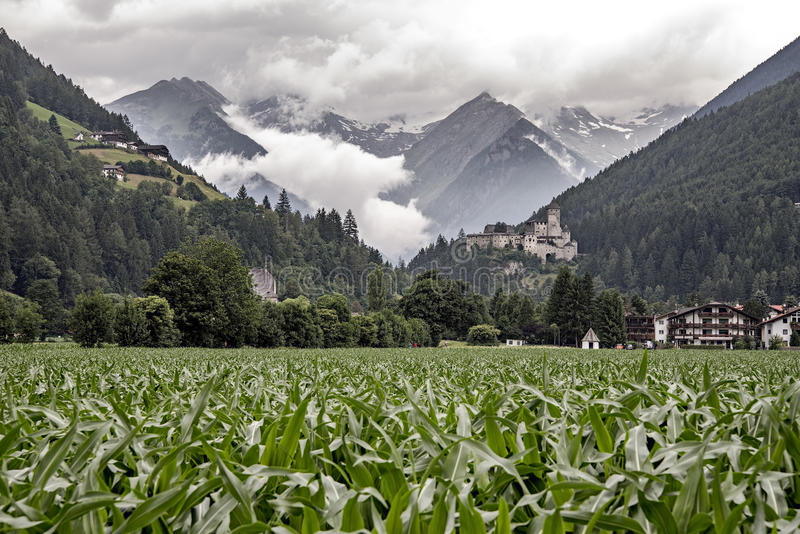 Castle Taufers in Campo Tures, Aurina Valley, Italy stock photos