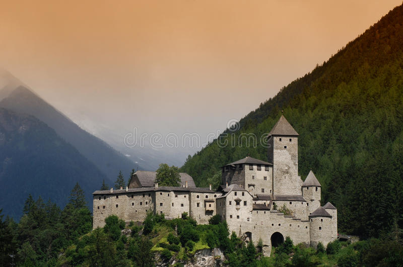 Castle Taufers in Campo Tures, Valle Aurina. stock image