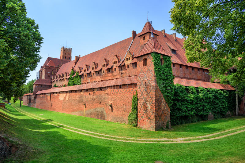 Castle of Teutonic Knights Order in Malbork, Poland. Historical Prussia stock photos