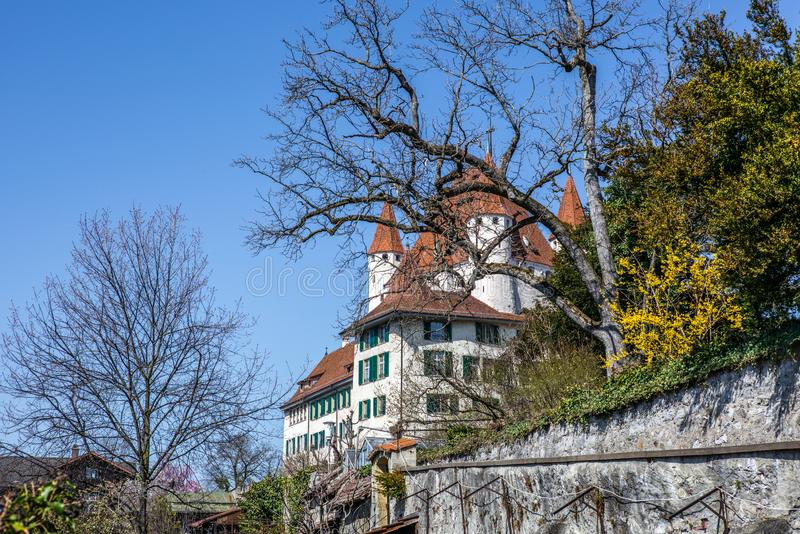 The castle of Thun at the very beginning of spring in the early morning - 2. The castle of Thun at the very beginning of spring in the early morning stock image