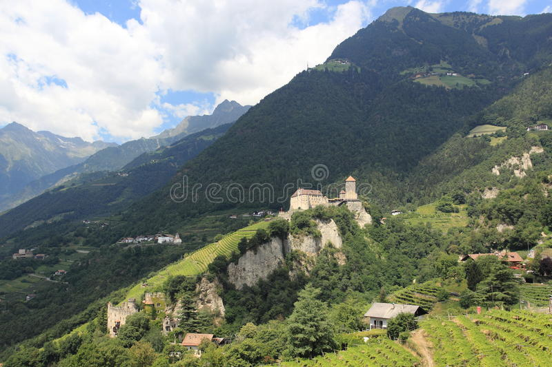 Castle Tirol. The medieval Tirol Castle near Meran in Italy royalty free stock image