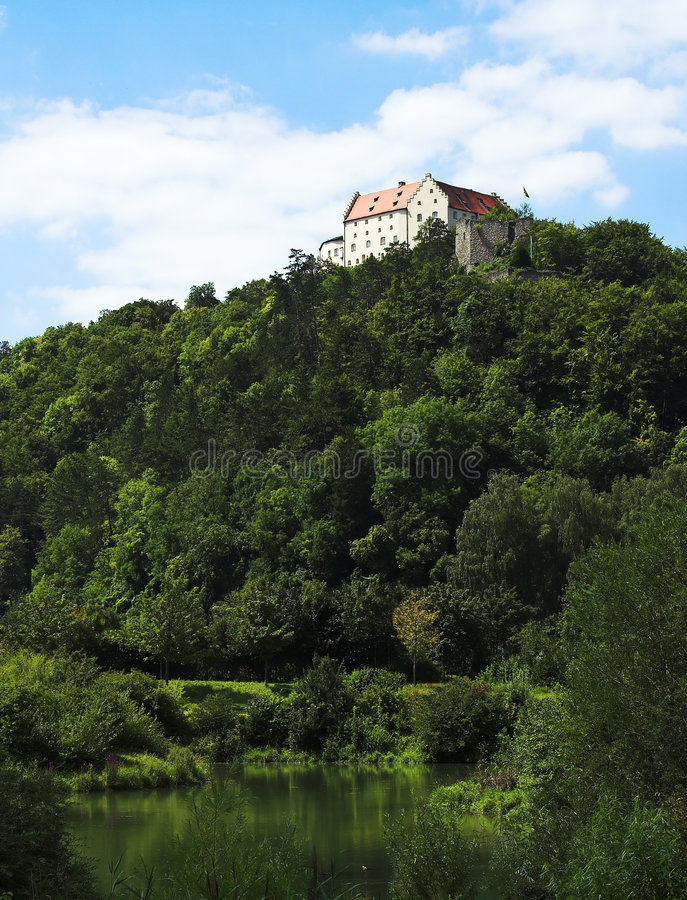 Castle on the top stock images