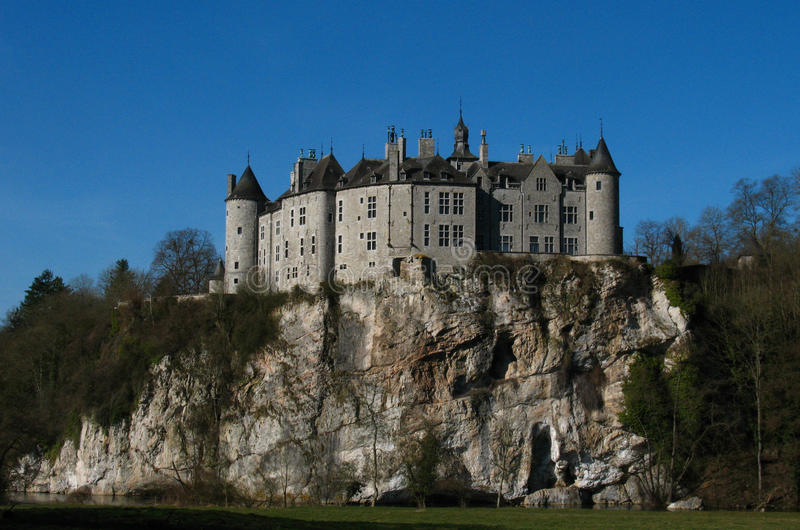 Castle on top of a rock royalty free stock photography