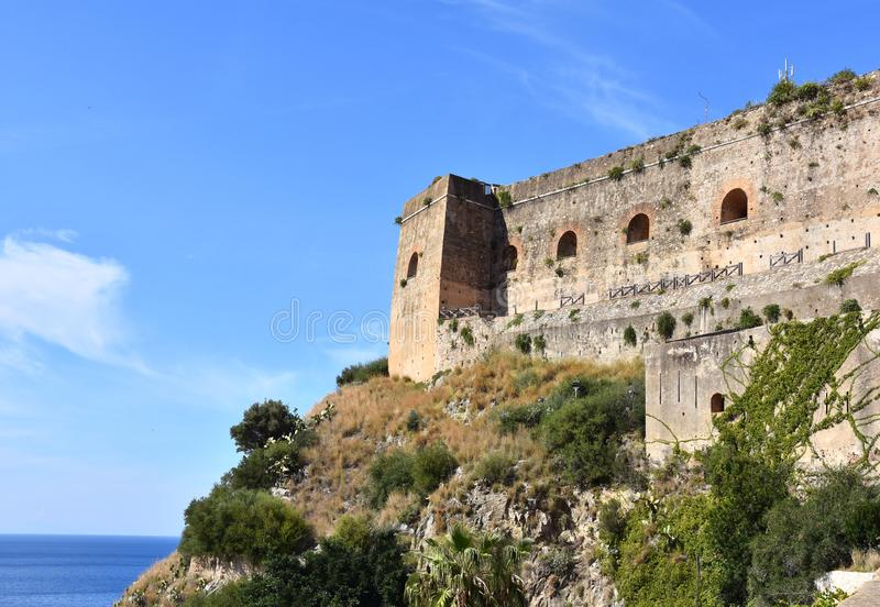 Castle of Scilla, Calabria, southern Italy royalty free stock image