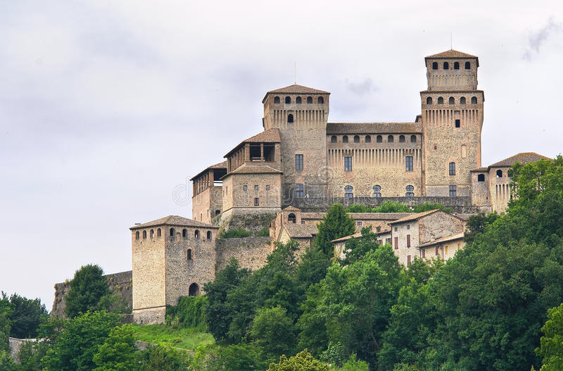 Castle of Torrechiara. Emilia-Romagna. Italy. royalty free stock image
