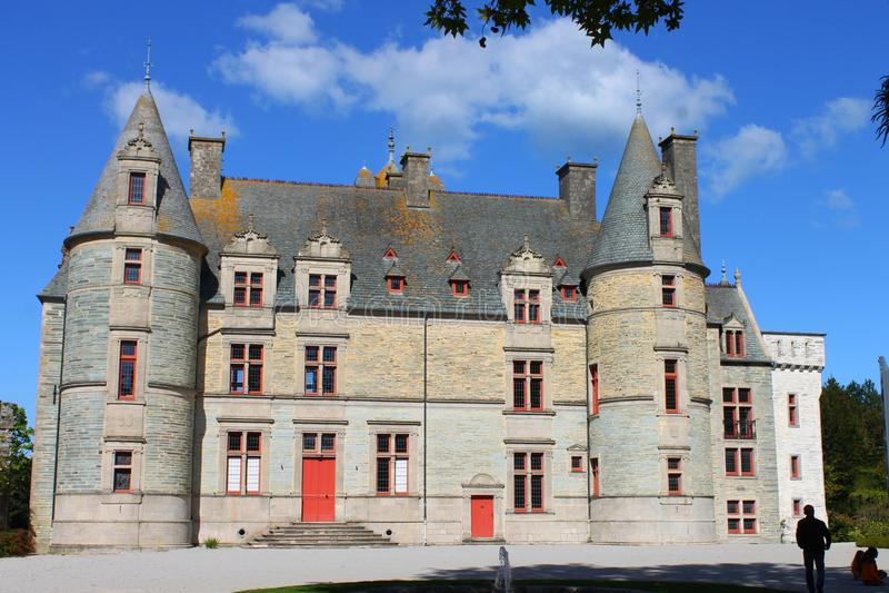 The castle of Tourlaville stock photo