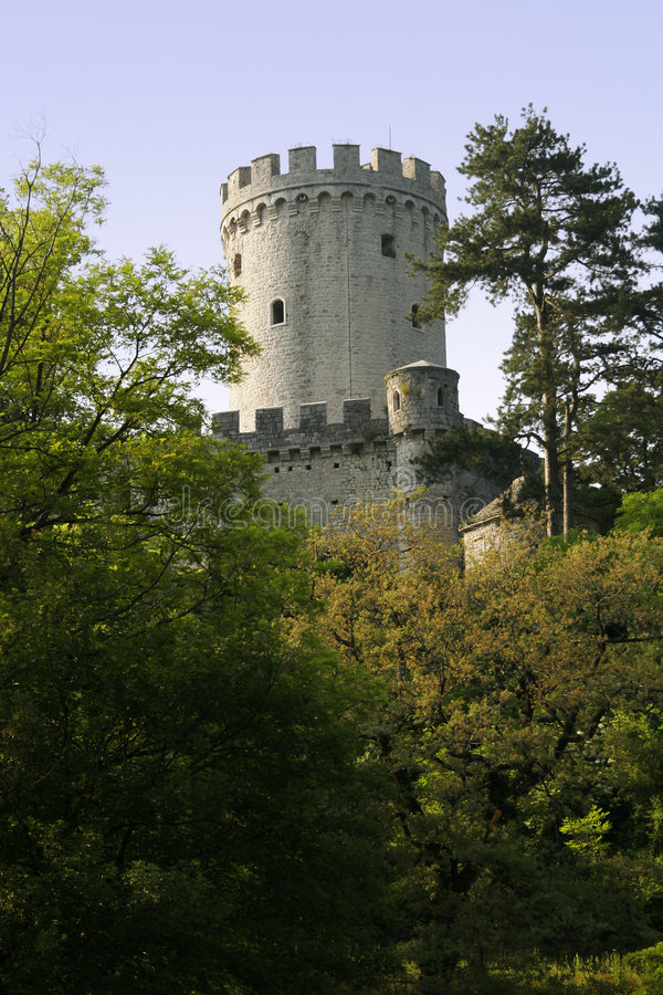 Castle tower. Part of medieval castle tower royalty free stock image