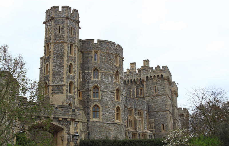 Castle Tower. Closeup in Windsor London UK royalty free stock photo