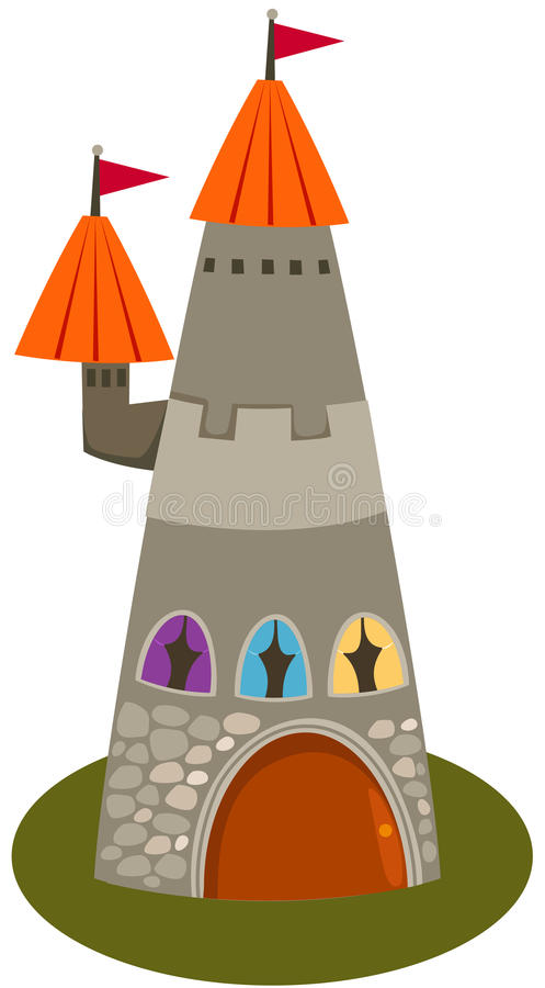 Castle tower royalty free illustration