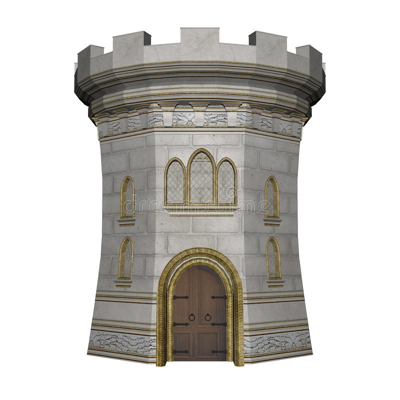 Free Castle Tower - 3D Render Royalty Free Stock Images - 74923709