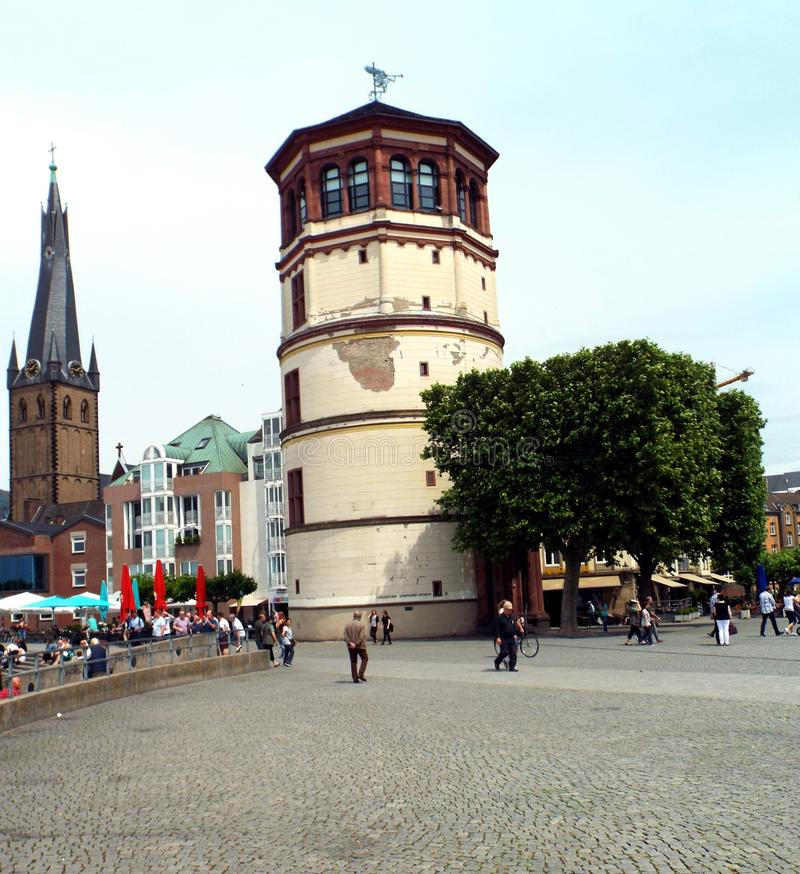 The castle tower on Burgplatz royalty free stock photography