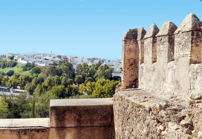 Download Castle tower of  Carmona stock image. Image of medieval - 27334839