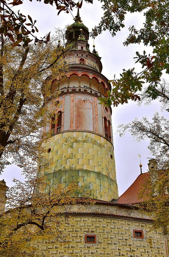 Castle Tower Czech Republic Travel stock images