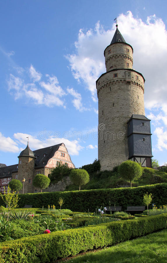 Castle tower in Germany stock images