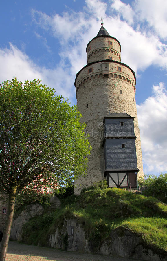 Castle tower in Germany stock image