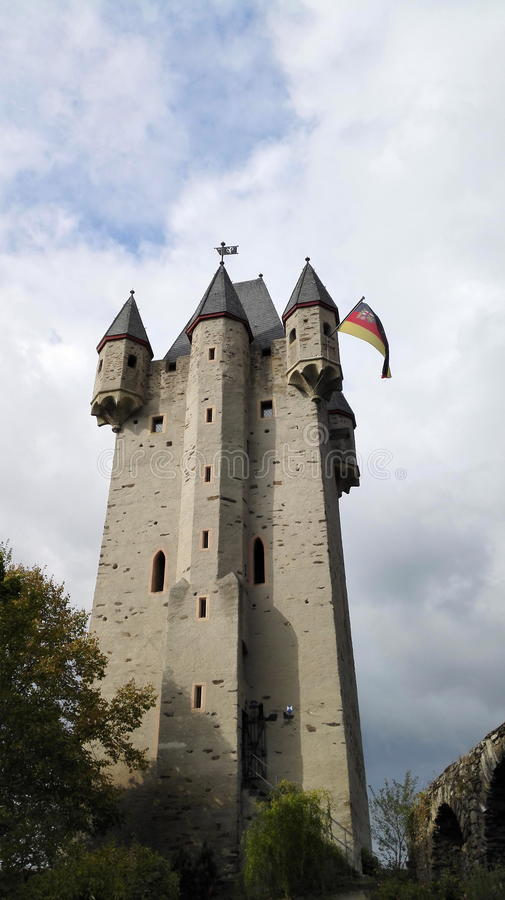 Castle Tower Germany. Tower of a castle in Lahnstein, nice view royalty free stock image