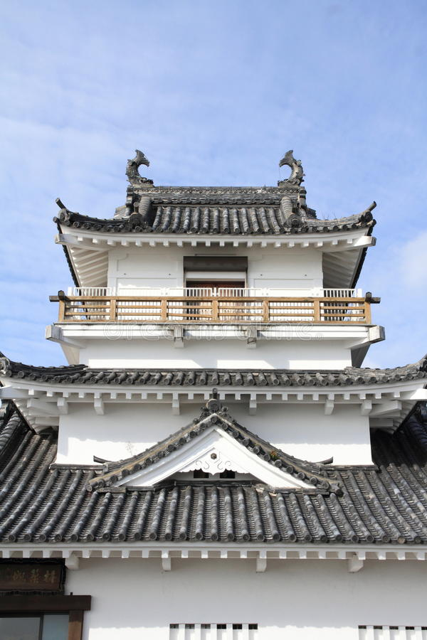 Castle tower of Kitsuki castle in Oita. Japan royalty free stock photography