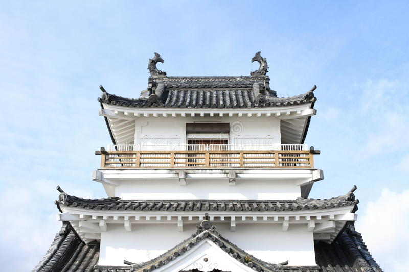 Castle tower of Kitsuki castle in Oita. Japan royalty free stock photo