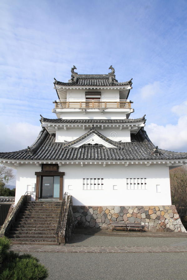 Castle tower of Kitsuki castle in Oita. Japan stock image