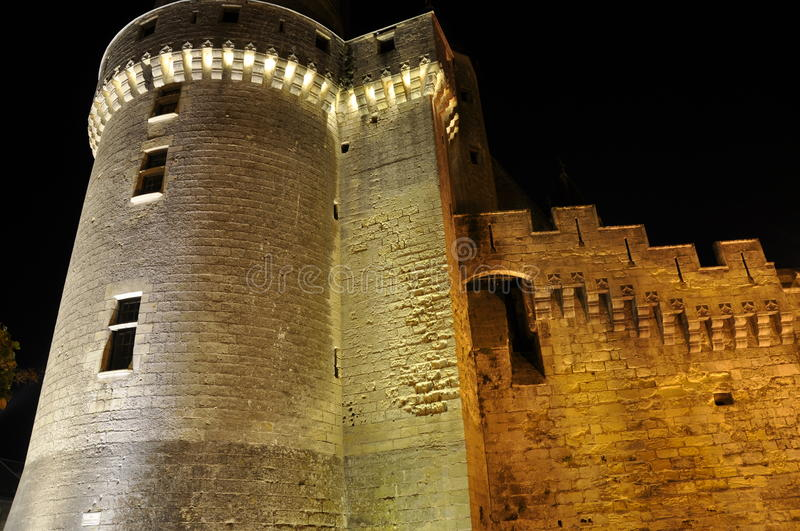 Download Castle tower at night stock photo. Image of france, ancient - 11318894