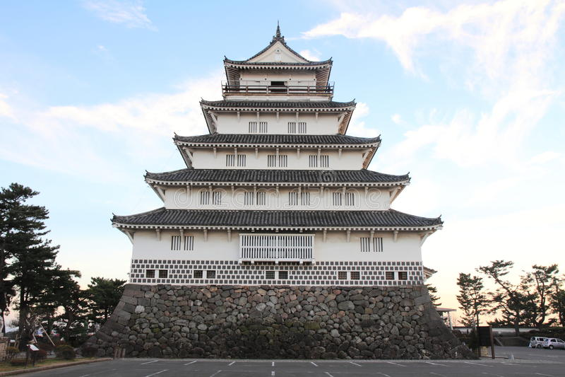 Castle tower of Shimabara castle in Nagasaki. Japan stock images