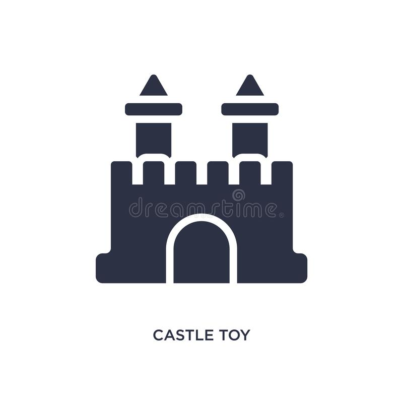 castle toy icon on white background. Simple element illustration from toys concept vector illustration