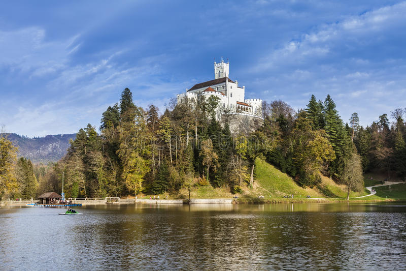 Castle Trakoscan στην Κροατία στοκ φωτογραφίες με δικαίωμα ελεύθερης χρήσης