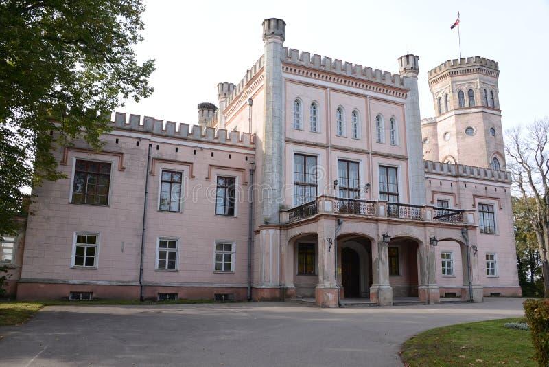 Castle travel in Latvia. Beautiful castle in Latvia , Vecauce stock photos