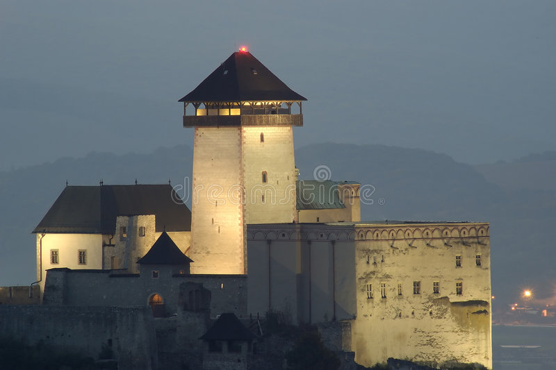 Castle in Trencin stock images