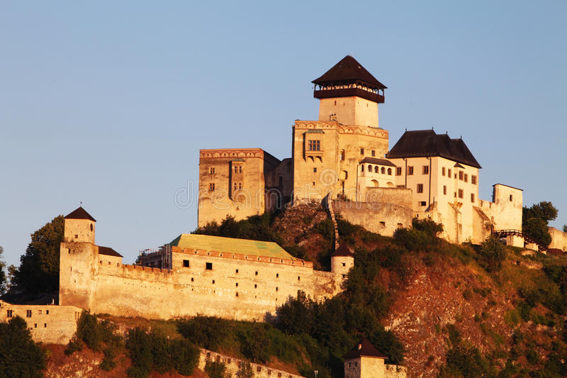 Castle Trencin, Slovakia stock photos