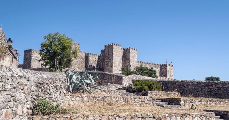 Castle of Trujillo stock photo