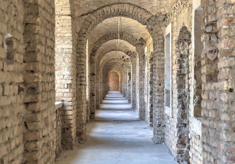Castle tunnel . royalty free stock image