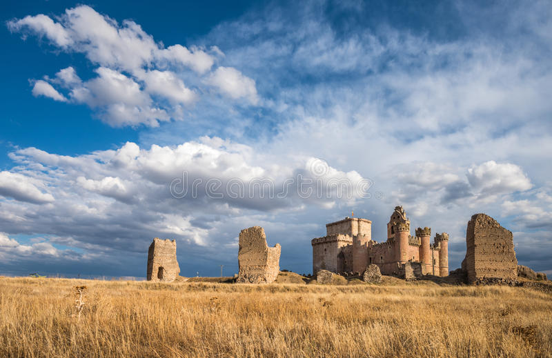 Castle of Turegano, a fortress in the province of Segovia stock photos