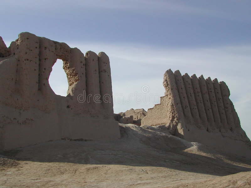Castle in turkmenistan royalty free stock images