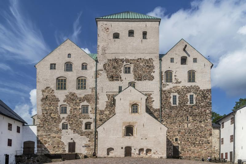 The Castle, Turku, Finland in a sunny summer day stock photography