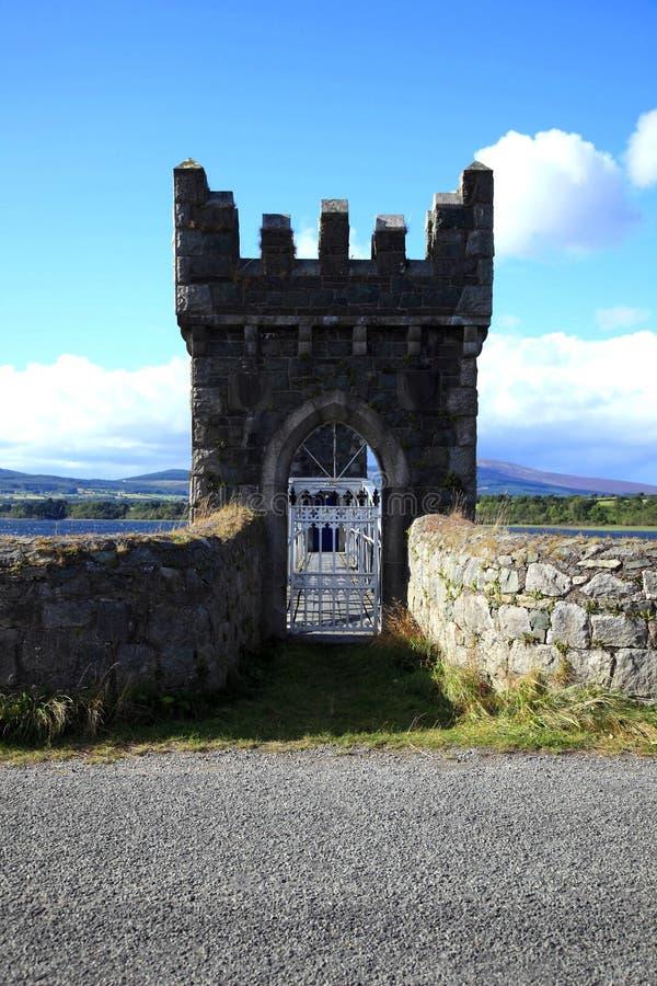 Castle type gateway. stock photography