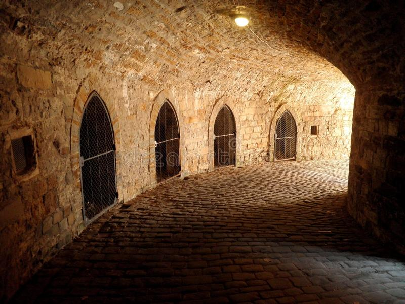 Castle Underground Dungeon Prison royalty free stock photos