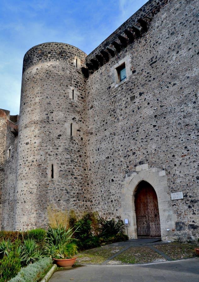 Castle Ursino of Catania. Sicily stock photography