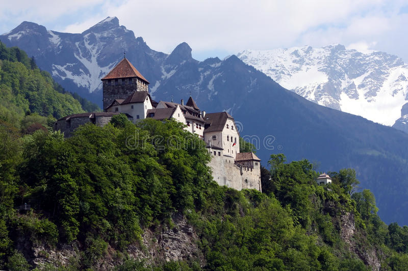 Download Castle in Vaduz stock photo. Image of building, mountain - 14481796