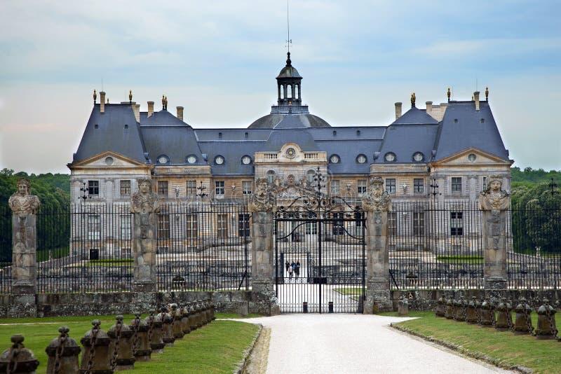 Castle Vaux le Vicomte, Frankreich. lizenzfreie stockfotografie